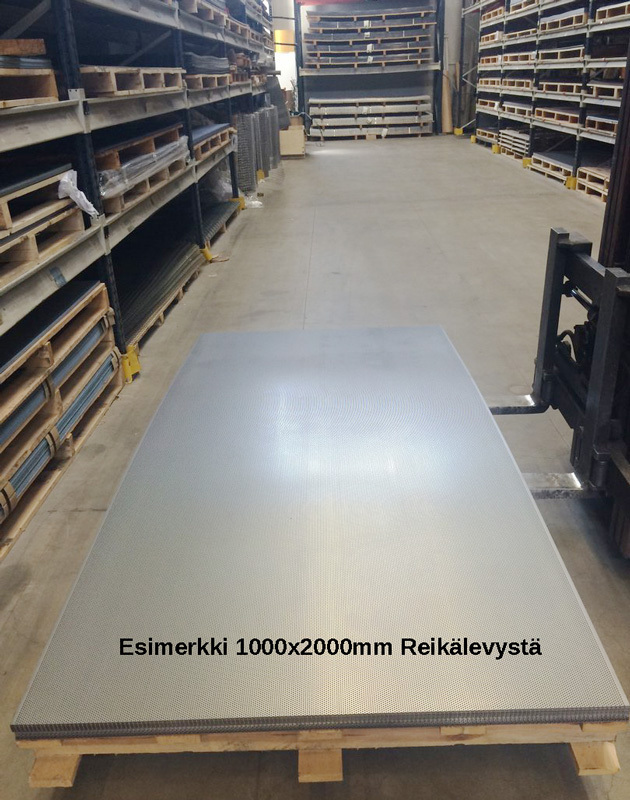 Neliöreikälevy Sinkitty (Zn) 1.0x1000x2000mm C8 U10 64%