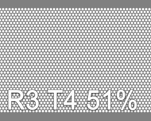 Reikälevy Musta teräs 2.0x1000x2000mm R3 T4 51%