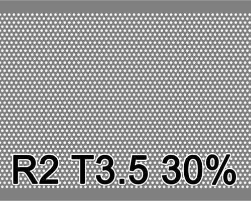 Reikälevy HST (AISI316L) 1.0x1000x2000mm R2 T3.5 30%