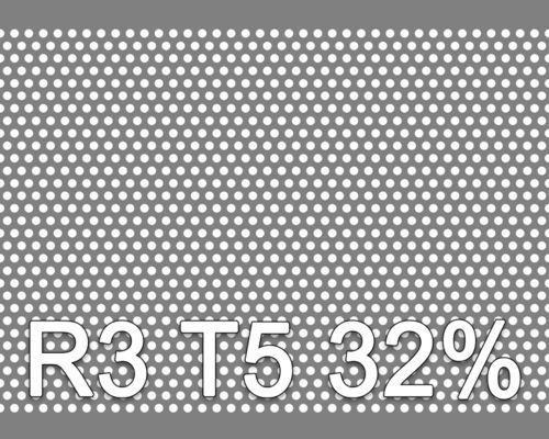 Reikälevy HST (AISI316L) 1.0x1000x2000mm R3 T5 32%