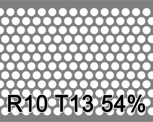 Reikälevy HST (AISI316L) 2.0x1000x2000mm R10 T13 54%