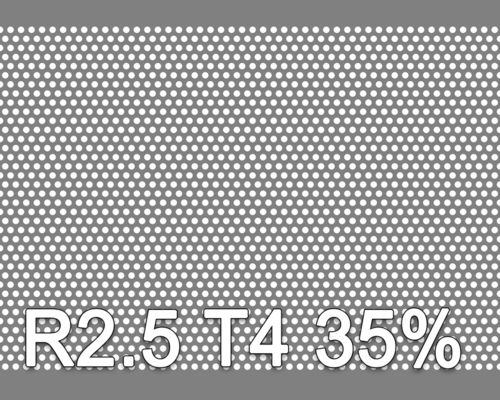 Reikälevy HST (AISI316L) 1.5x1000x2000mm R2.5 T4 35%