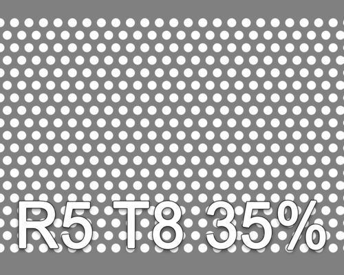 Reikälevy HST (AISI316L) 2.0x1000x2000mm R5 T8 35%