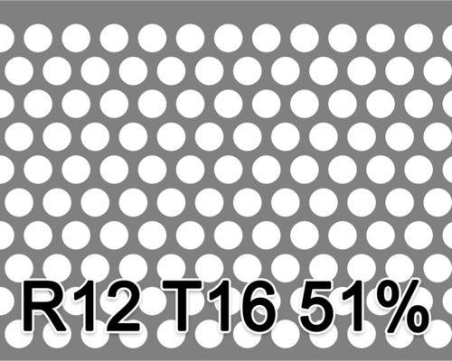 Reikälevy HST (AISI316L) 6.0x1000x2000mm R12 T16 51%