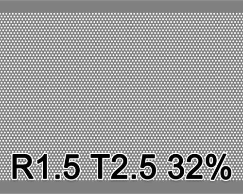 Reikälevy RST (AISI304) 1.0x1000x2000mm R1.5 T2.5 32%