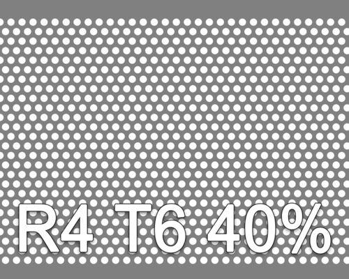 Reikälevy RST (AISI304) 1.0x1000x2000mm R4 T6 40%