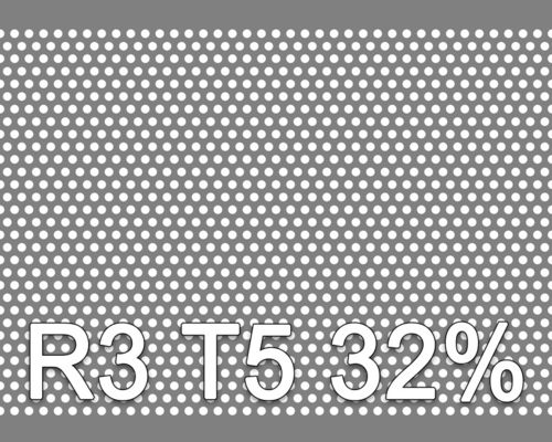 Reikälevy RST (AISI304) 1.0x1000x2000mm R3 T5 32%