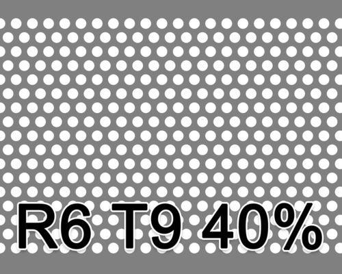 Reikälevy RST (AISI304) 1.5x1000x2000mm R6 T9 40%
