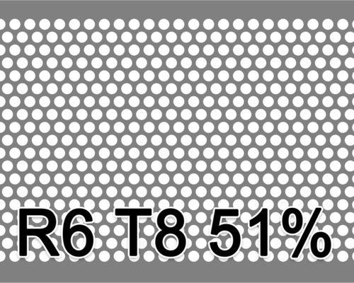 Reikälevy RST (AISI304) 1.0x1000x2000mm R6 T8 51%