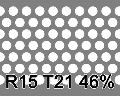Reikälevy RST (AISI304) 2.0x1000x2000mm R15 T21 46%