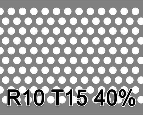 Reikälevy RST (AISI304) 1.5x1000x2000mm R10 T15 40%