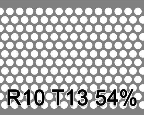 Reikälevy RST (AISI304) 1.0x1000x2000mm R10 T13 54%