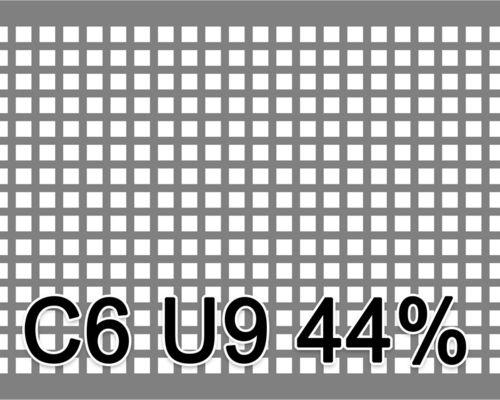 Neliöreikälevy Musta teräs 1.0x1000x2000mm C6 U9 44%