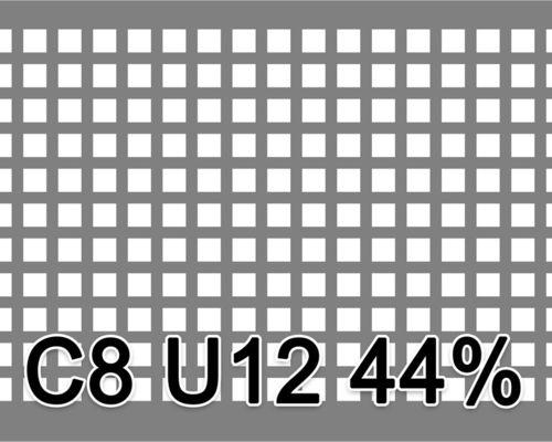 Neliöreikälevy Musta teräs 1.0x1000x2000mm C8 U12 44%