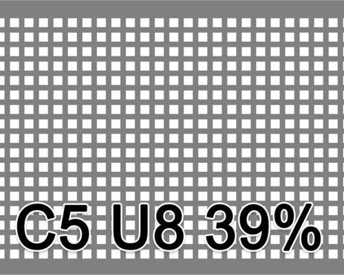 Neliöreikälevy RST (AISI304) 1.0x1000x2000mm C5 U8 39%