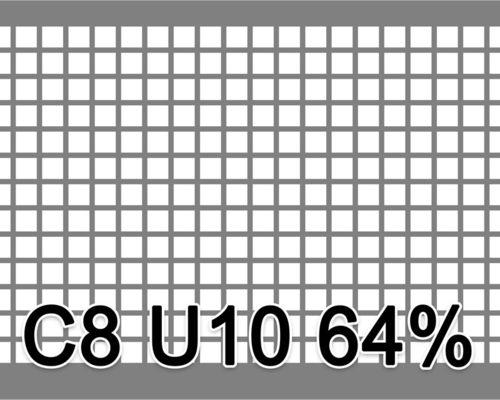 Neliöreikälevy RST (AISI304) 1.0x1000x2000mm C8 U10 64%