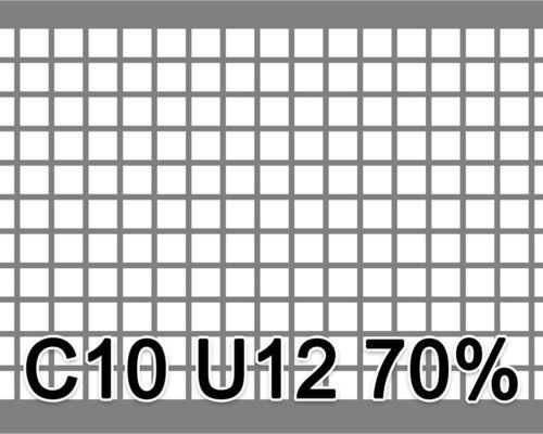 Neliöreikälevy RST (AISI304) 1.0x1000x2000mm C10 U12 70%