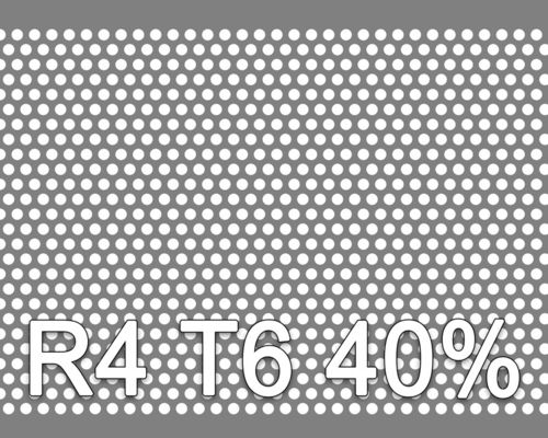 Reikälevy Musta teräs 1.0x1000x2000mm R4 T6 40%