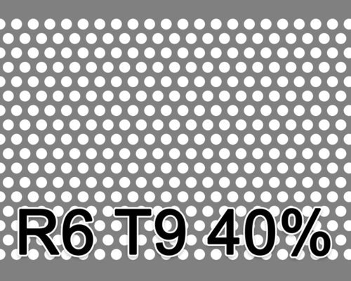 Reikälevy Musta teräs 1.0x1000x2000mm R6 T9 40%