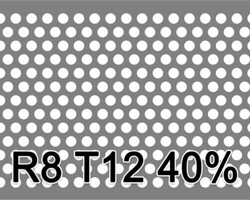 Reikälevy Musta teräs 1.0x1000x2000mm R8 T12 40%