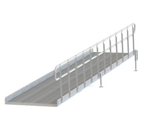 Invaramppi Kuumasinkitty 900x2000mm RST kaide yhdellä sivulla